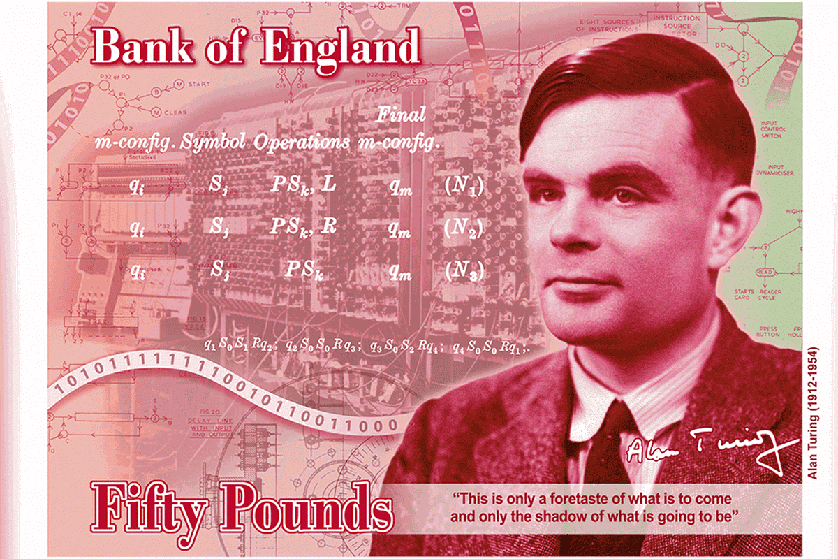Britain Puts Alan Turing on the Face of its 50-Pound Note