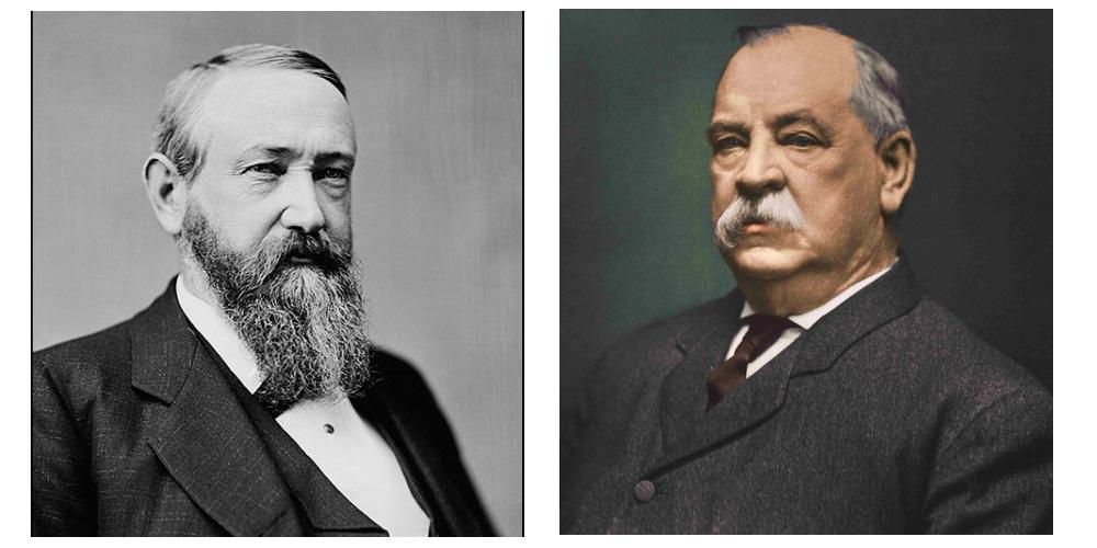 Benjamin Harrison (D) vs Grover Cleveland (R)