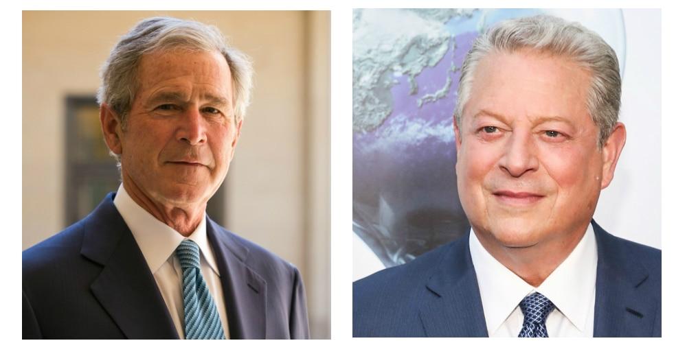 George W. Bush (R) vs Al Gore (D)