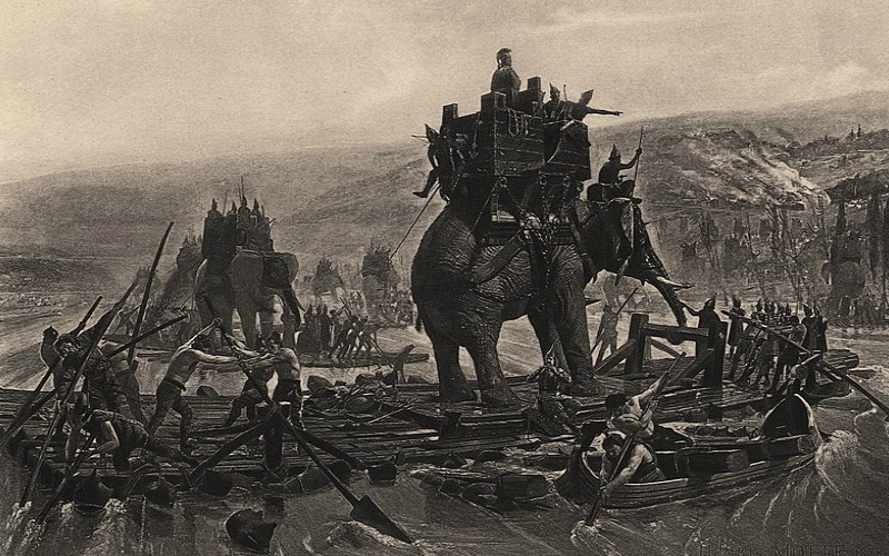Hannibal Barca war elephants