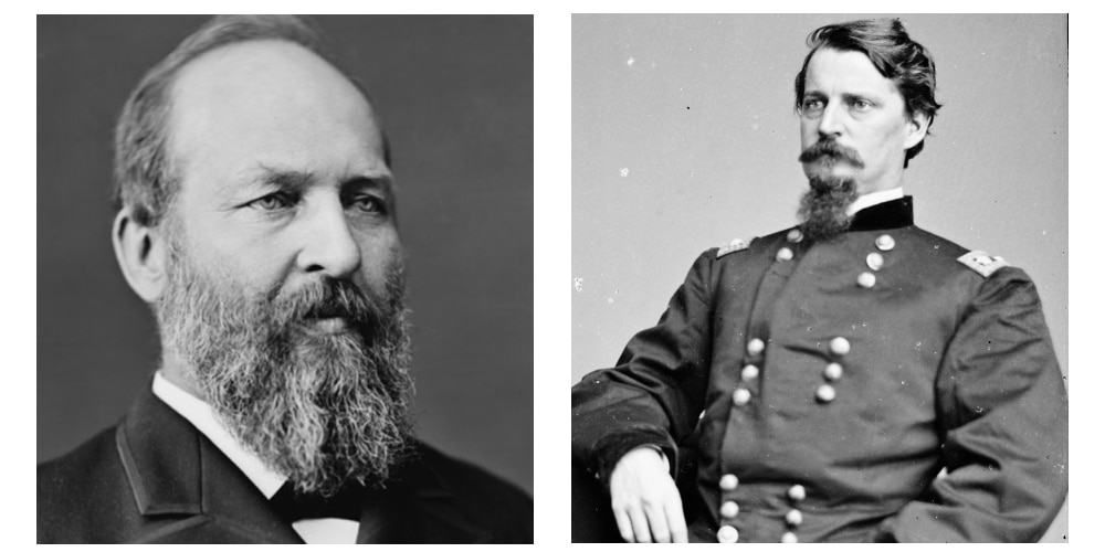 James Garfield (R) vs Winfield Hancock (D)