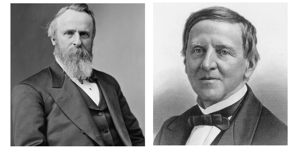 Rutherford B. Hayes (R) vs Samuel Tilden (D)