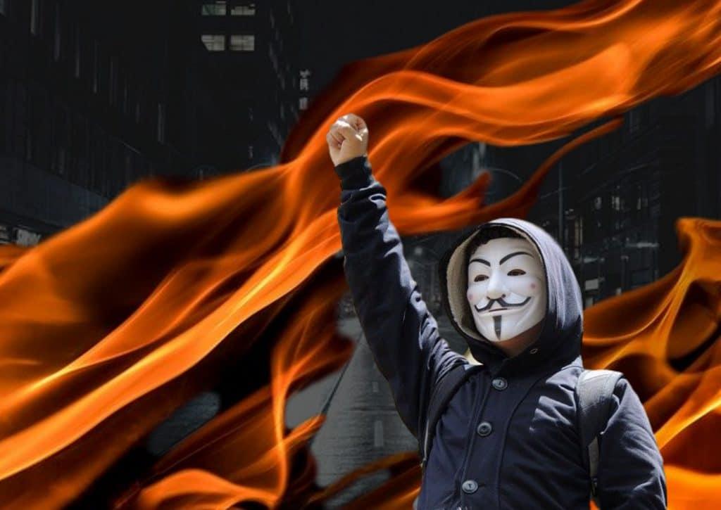 protest become violent